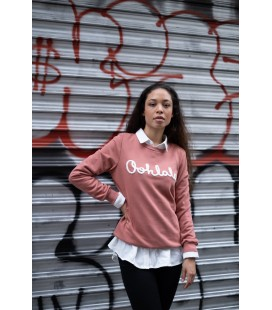 Sweat OOHLALA - DARK PINK / BLANC