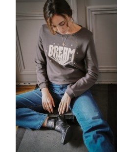 "Sweat ""DREAM"" - Gris Foncé"