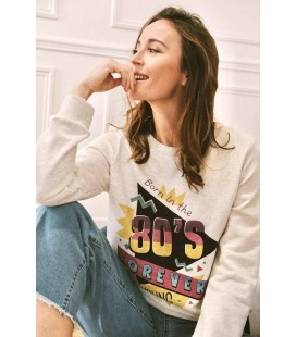 "Sweat ""80's""- Beige"