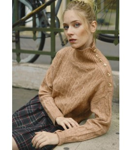 PULL MAEVE COL MONTANT - CAMEL